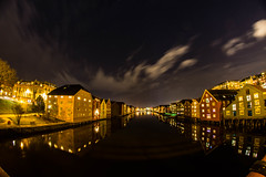 The Big Dipper (bela.more) Tags: trondheim wharves night citylights constellation reflection nidelva river bigdipper astrophoto cityscape clouds sky longexposure