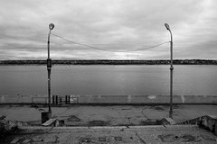 ...gates... (nVa17) Tags: river kamariver water gates coast embankment autumn fall october perm         blackandwhite blackwhite blackandwhitephotography bnw bw
