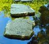 DSC_0113 (om1a) Tags: water reflection stone reflectedsky
