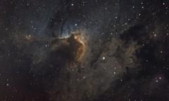 Cave Nebula - Sh2-155 (Explored) (Manifest Stephanie) Tags: qsi qhy cave nebula televue tele vue cloud break optics seattle night deep sky abstract narrowband