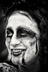 Monochrome Zombie (Andy J Newman) Tags: bristolzombiewalk zombie zombiewalk candid streetphotography street portrait blackandwhite monochrome nikon d500