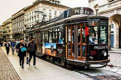 Tram - Via Manzoni - Milano (Bouhsina Photography) Tags: via manzoni milan milano italy italie italia street couleur rue rua tram metro trasport canon 5diii ef247028ii bouhsina bouhsinaphotogrphy