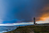 When There is A Storm, There is A Lighthouse (hanifanous) Tags: 14mm rokinon nikon longexposure sunset landscape beach lighthouse pigeonpoint california sanfrancisco