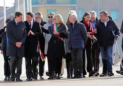 Matteo Renzi durante la sua visita ad Alessandria sul ponte Meier e alla Cittadella 2