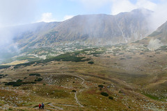 Zejście z grani Bystrej do doliny Bystrej