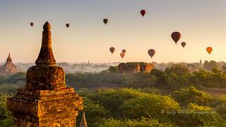 Dawn Flight over Bagan