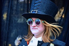 On Reflection... (violetchicken977) Tags: goths steampunks gothweekend whitby northyorkshire festival streetphotography sunglasses reflections tophat