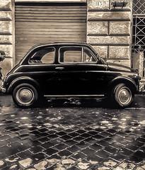Fiat 500 (mcalma68) Tags: monochrome oldtimer fiat 500 rome