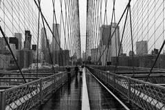 Rainy Day (Akromac) Tags: newyork usa bw blackandwhite street stadt city 5dmark3 canon bridge architecture