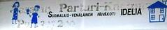 S-V P-K (neppanen) Tags: sampen discounterintelligence helsinginkilometritehdas helsinki finland suomi piv87 reitti87 pivno87 reittino87 suomalaisvenlinen parturikampaamo pivkoti lastentarha kyltti idelia