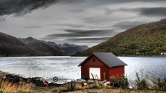 Norway (Jan-Krux Photography) Tags: norway tromso norwegen skandinavien scandinavia north norden europa europe hut huette fjord meer wasser water mountains someroy landschaft landscape olympus em1 omd inexplore explore