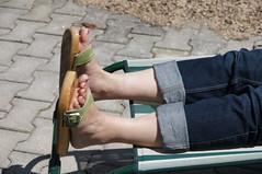 DSC00718 (Bluemscher) Tags: berkemann b100 jeans exercisesandal exercisesandals holzschuh holzsandale holzclogs holzklepper holzschuhe holzpantoffel holzklappern holzlatschen holzklepperle originalsandale onestrapsandal outdoor klappern klepperle klepper