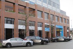 Vancouver Police Vehicles (D70) Tags: vancouver police vehicles parked close station icbc claims center dodge charger v6 ford interceptor utility