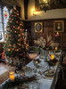 Ightham Mote , Great Hall, ready for Christmas (neilalderney123) Tags: ©2016neilhoward ighthammote christmas tree xmastree victorian olympus greathall england kent table food