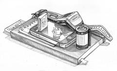 Stuff on my desktop (Jeroenc71) Tags: moleskine sketch sketching garmin film roll 35mm eraser palycard objects