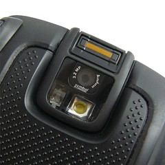 Camera and fingerprint scanner of Motorola ES400