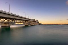 Golden Crossing (duncan_mclean) Tags: leefilters longexposure bigstopper newzealand le bridge auckland harbour