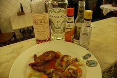 cervo e suffering bastard piatto e cocktail (burde73) Tags: cocktaildinner lucapicchi burde miscelato ricetta recipe armagnac cassis champagne gin panarea sagna mixology