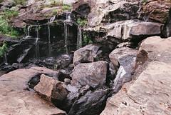 (Doug J.) Tags: canon eos rebel g film 35mm sigma2880mm fujifilm fuji superia 400 xtra forest woods nature hike trail rocks water waterfall rocky ledge outcrop