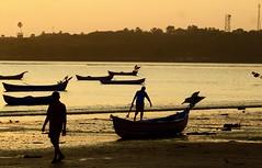 Dropping Anchor@Versova Beach (Sudhir i in the sky :)) Tags: sunset anchor mumbai versova