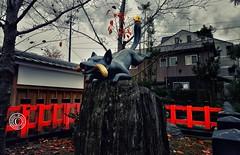 Fushimi Inari Shrine. Inari Kitsune Kyoto.  Glenn E Waters. Japan 2016. (Glenn Waters in Japan.) Tags: fox inarikitsune fushimi kyoto japan glennwaters