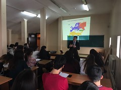professor Stojanovic delivered the lectures on KazNU on 2. and 3. December 2016