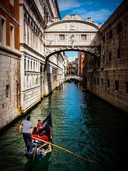 Gondola by the Bridge of Sighs (Barry O Carroll Photography) Tags: gondola gondolier bridgeofsighs canal venice venezia veneto italy italia water buildings architecture cityscape urbanlandscape travel