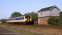 16/05/1989 - Thrybergh Junction, South Yorkshire. (53A Models) Tags: britishrail networknorthwest spinter class150 150203 dmu diesel passenger thryberghjunction southyorkshire train railway locomotive railroad
