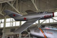 Mikoyan-Gurevich (PZL-Mielec) MiG-15bis (Lim-2) (NATO Reporting Name: Fagot) -  1524 and United States Air Force - North American F-86E Sabre - USAF 51-2841 - Nina II - Pacific Aviation Museum - Pearl Harbor - November 2, 2013 148 RT CRP (TVL1970) Tags: nikon nikond90 d90 nikongp1 gp1 geotagged nikkor18105mmvr 18105mmvr hawaii oahu pearlharbor fordisland pacificaviationmuseum hangar79 aviation aircraft airplane militaryaviation usaf512841 af512841 512841 cn172124 172124 ninaii unitedstatesairforce usairforce northamericanaviation naa northamericanf86sabre northamericanf86 f86sabre f86 sabrejet northamericansabre sabre northamericanf86esabre northamericanf86e f86esabre f86e f86e10na generalelectric ge generalelectricj47 gej47 j47 j47ge13 1524 cn1b01524 1b01524 siłypowietrzne silypowietrzne wojskalotniczeiobronypowietrznej polishairforce mikoyangurevich mig mikoyan pzlmielec mikoyangurevichmig15fagot mikoyangurevichmig15 mig15 fagot mikoyangurevichmig15bis mig15bis pzlmieleclim2 lim2 rollsroycenene rrnene nene klimov klimovvk1 vk1 lis2