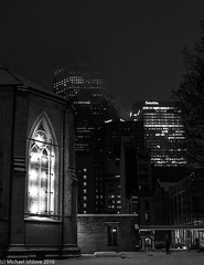 The Cathedral Church of St. James (mishlove1) Tags: canada canon7d downtowntoronto michaelishlove nightphotography photowalk photowalking seasonallights sidewalkphotography streets topwslw2016 toronto torontostreets xmas
