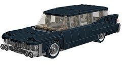 1959 Cadillac Hearse (RS 1990) Tags: mod lego cadillac ambulance ideas hearse ghostbusters ecto1 21108 ecto1a