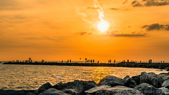 Golden Hour (DonMiller_ToGo) Tags: sunset gulfofmexico jetty sunsets g5 fav10 cloudsstormssunsetssunrises sunsetmadness sunsetsniper