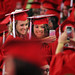 Grads fire off a selfie during spring 2014 commencement.