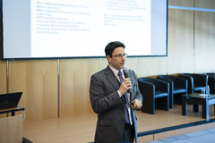 John Moavenzadeh addressing participants at the Presentation Connected World: Hyperconnected Travel and Transport in Action