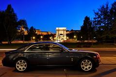 Rolls-Royce Ghost (mufracsek) Tags: auto blue car nikon hungary ghost budapest rollsroyce exotic hour rolls bluehour supercar royce 2011 d90 aut worldcars pengeverdk