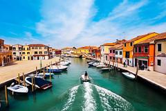 Murano, Venice (Cocoa Bean.) Tags: venice canon landscape canal angle wide murano 6d colouredhouses dramaticskies 1740mml