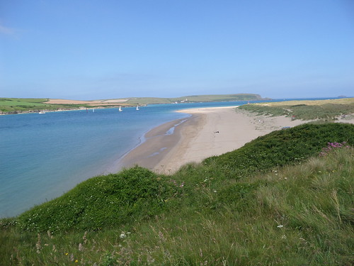 Rock Beach and Camel Estuary, Cornwall