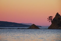 The Tropical South :) (eserehtM) Tags: pink winter sunset bay tasmania blackmans