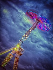 Hoppings-Ride (Mr Teeny) Tags: wheel big ride fairground ferris rides