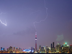 CN Tower Lightning (Duncan Rawlinson - Duncan.co) Tags: toronto ontario canada storm weather electric skyline night buildings wow dark landscape amazing cntower bolt electricity lightning lightningbolt zap boltoflightning at landscapephoto cntowerlightning cntowerlightningstrike