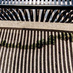 the grass is always greener (MyArtistSoul) Tags: ca street urban abstract bench square shadows stripes minimal ventura canons100 6396