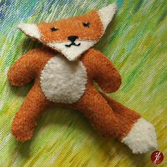 fox (bornschein) Tags: orange white animal handmade textile fox myhandmade sewrecycled