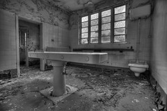The SLAB (tombo68) Tags: uk longexposure urban blackandwhite black texture abandoned window rotting monochrome beautiful beauty typewriter canon buildings table dead eos death theater alone decay unique exploring explorer perspective wideangle dirty forgotten urbanexploration canon5d rotten filth filthy desolate asylum highdynamicrange bnw decayed decaying slab trespassing crumbling morgue sfx abandonedbuilding urbex mortuary lightbeam forbiddenplaces forgottenplaces abandonedhospital lostplaces photomatix eos5d abandonmentissues beautyindecay urbanexplorer urbanex inexplore urbanarte abigfave canonef1635mmf28liiusm partnersingrime urbexer urbexhdr detailsofdecay 5dmk3 vividstriking ukurbex urbexuk hdrurbex filthyfeeds filthyfamily tombo68