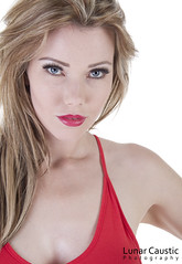Nicky Phillips - 5-02 (Lunar Caustic Photography) Tags: red fashion model dress 2014 burnette nickyphillips