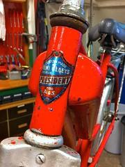 P1-Project-City-Bike 7 (@WorkCycles) Tags: old city bike vintage cool fifties child belgium belgie president retro henry 1950s restoration oud p1 tailfin restauratie kinderfiets stadsfiets workcycles revisie