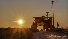Wooden Bridge at Sunset (Rick Deacon) Tags: bridge sunset texture wooden britishcolumbia hdr highdynamicrange