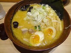 Miso Ramen @Shirakaba-Sanso, Sapporo Chitose Airport (Phreddie) Tags: trip food lunch japanese soup miso restaurant airport sapporo hokkaido yum egg delicious eat ramen noodle biz chitose sanso shirakaba