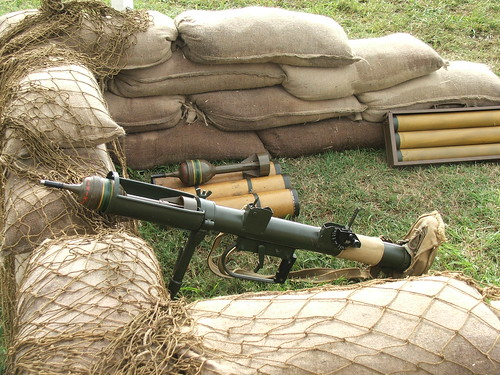 PIAT WWII anti tank weapon. Army Group South.