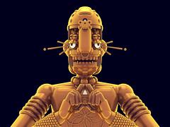 GURUS! (DLGNCE) Tags: statue gold golden render cinema4d c4d 3dart rendering gurus 3dillustration stuartwade dlgnce