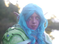 Shooting Huntress - World of Warcraft - 2014-08-07- P1900737 (styeb) Tags: shooting shoot hostens 2014 aout 07 lac water landes huntress world warcraft wow blizzard cosplay
